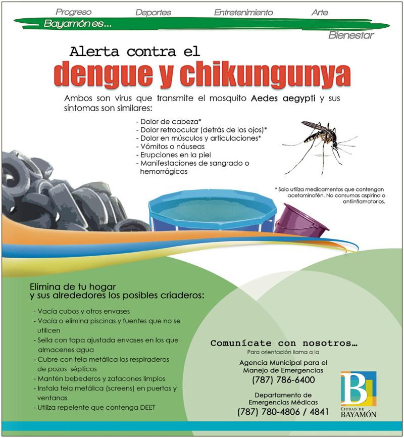 Folleto: Información sobre la protección contra el Chikungunya