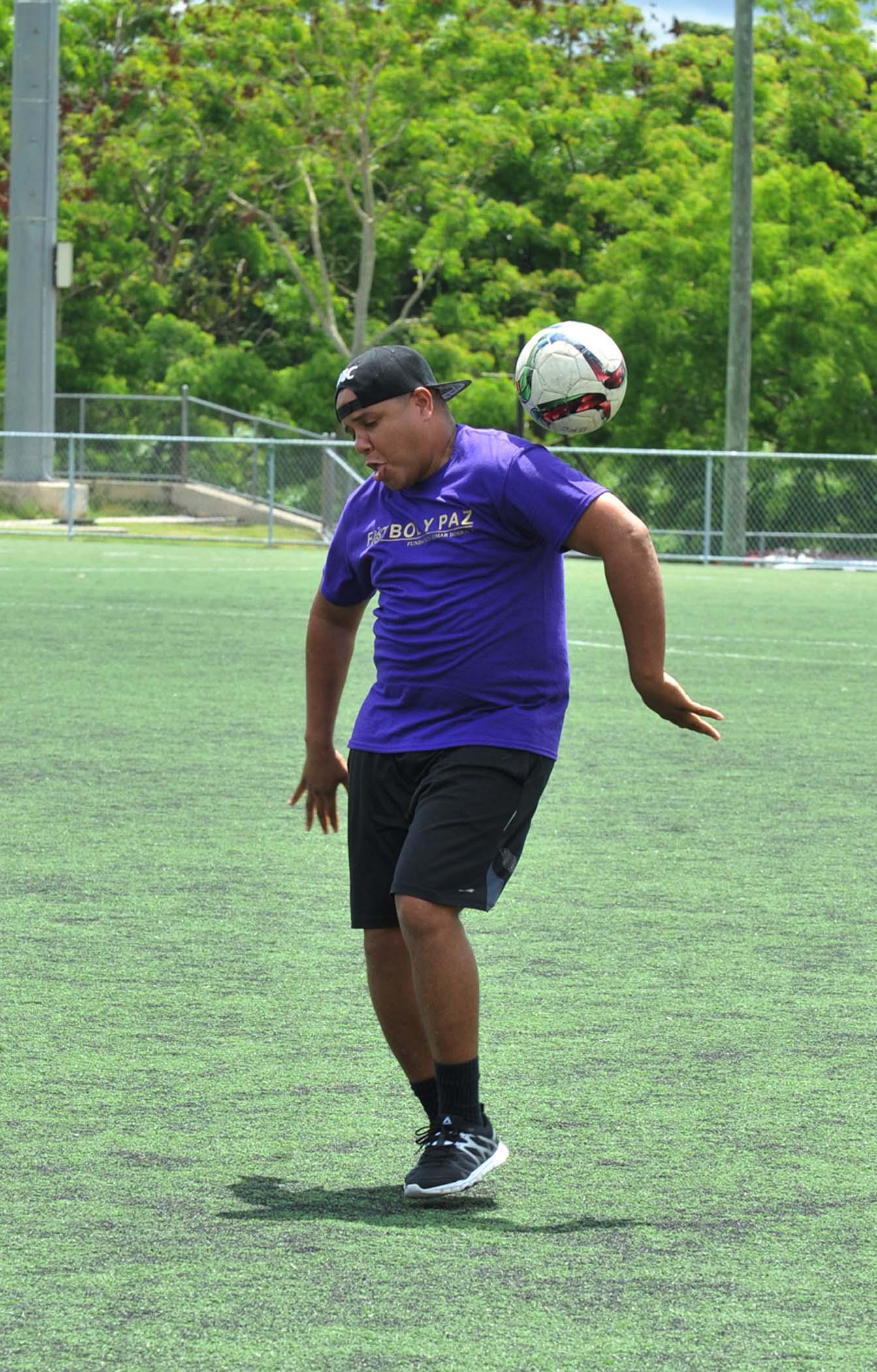 Jugador del equipo violeta