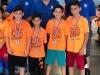 Estudiantes participantes con sus medallas