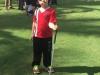 Niño participante del 5to Festival de Golf de Educación Física Adaptada