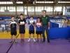 Cat Sub 11-Adrian Rivera, Giovanni Centeno, Derek Valentin y Yadier Lopez junto a Nelson Garcia entrenador Llanuros de Aguada