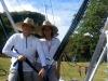 Apertura Parque de las Ciencias: Trabajadores del bungee jumping.