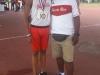 Angel Cowy Perez junto a Jose Mojica - bronce 100 metros lisos