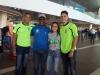 Por Bayamon, su entrenador Angel Cowy Perez, Jose Silva, Alejandra Cruz y Jose Mojica