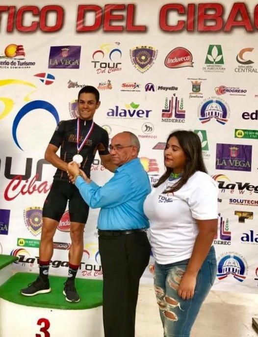 Elvys Reyes tercer lugar en la segunda etapa del Tour del Cibao.jpg