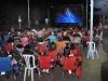 Asistentes del evento viendo la película