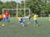 David Villa jugando junto a los niños