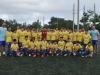 David Villa junto a jugadores de equipo 13-15 años