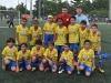 David Villa junto a jugadores de equipo 9 años
