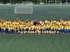 David Villa junto a todos los jugadores y entrenadores