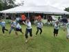 niños participando de los juegos de ejercicio físico