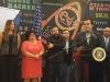 El honorable gobernados, Ricardo Rosselló dirigiéndose a los presente en el evento