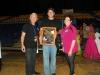 Hiram Padilla, director Recreacion y Deportes Bayamon junto a Gibran Feliciano presidente Club Vaqueros