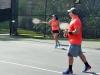 Parejas doble tenis en Seccional de las Ligas de Tenis para Adultos en el Centro de Tenis Honda