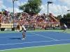 Torneo Fed Cup dado del 1 al 6 de febrero en el Centro de Tenis Honda. Tenistas jugando en la cancha.