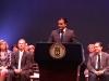 Nuestro gobernador, Ricardo Rosselló se dirige a los presentes.