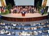 El Gobernador Ricardo Rosselló dando un mensaje a los presentes