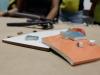 Materiales de locetas utilizadas por profesora de arte