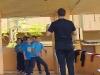 Lider junto a grupo de estudiantes partícipes del Taller de volleybal