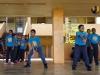 Estudiantes partícipes del Taller de volleybal en acción