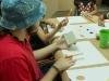 Participante del taller listo para empezar una obra