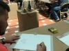 Empleados dibujando sus obras