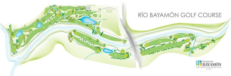 Esquema Río Bayamón Golf Course