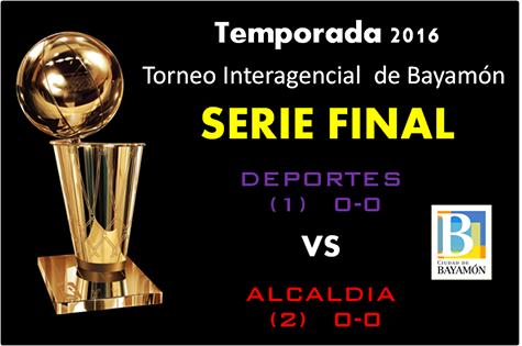 Serie Final Torneo Interagencial de Bayamón: 23 de mayo - Deportes vs. Alcaldía