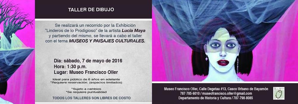 Taller de Dibujo - 7 de mayo de 2016 a las 1:30 p.m. en el Museo Francisco Oller