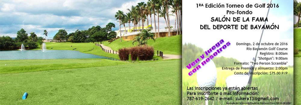1era Edicion Torneo de Golf Salón de la Fama Domingo 2 de octubre de 2016