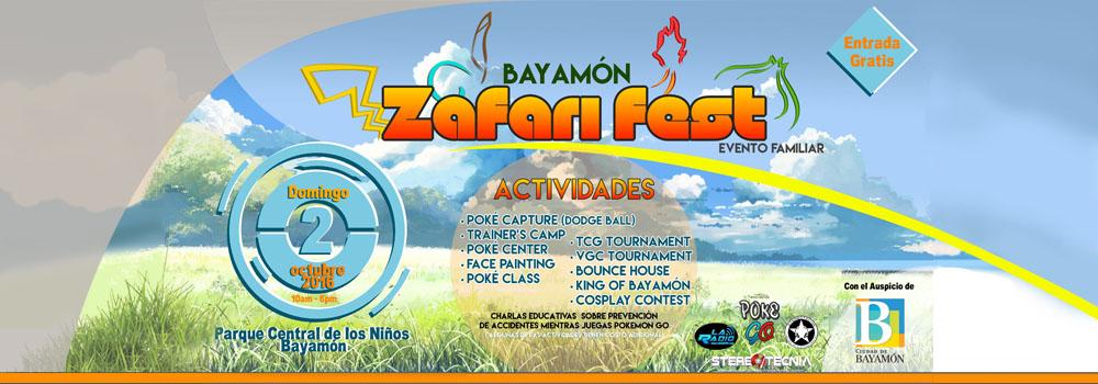Bayamón Zafari Fest el Domingo 2 de octubre de 2016 en el Parque Central de los Niños