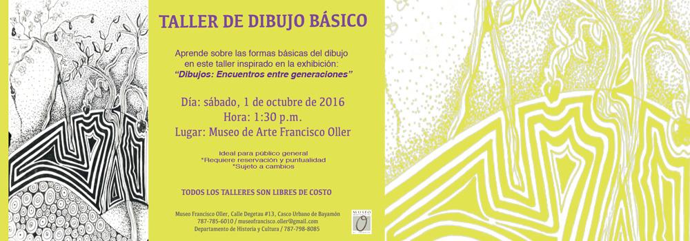 Taller de Dibujo Básico en el Museo Francisco oller el 1 de octubre a las 1:30 p.m.
