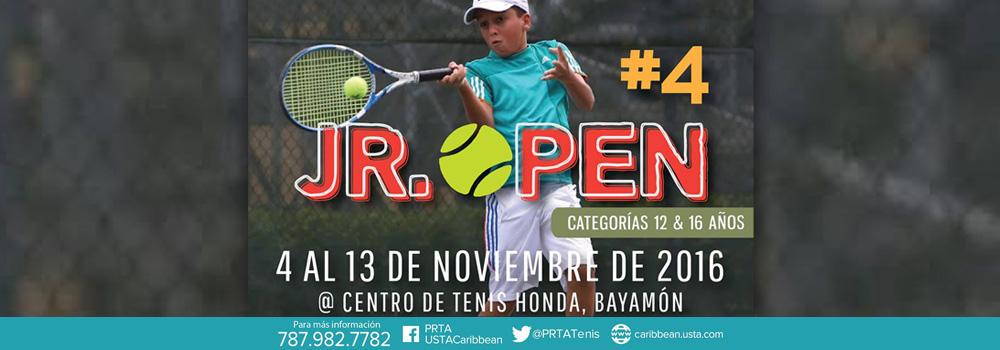 Jr. Open #4 en el Centro de Tenis Honda del 4 al 13 de noviembre de 2016
