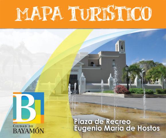 Mapa Turístico. En foto: Plaza de Recreo Eugenio María de Hostos