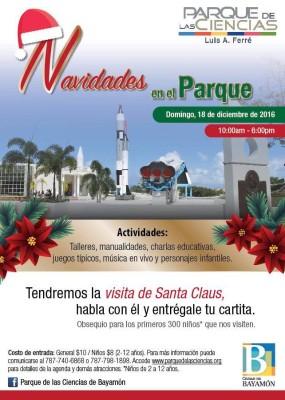 Navidades en el Parque el Domingo, 18 de diciembre de 2016