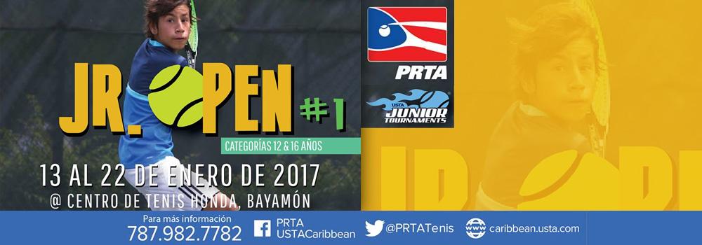 Jr. Open #1 del 13 al 22 de enero de 2017 en el Centro de Tenis Honda