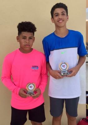 James Villacis y Ivan Torres Nicolao Campeones dobles categoria 14 años