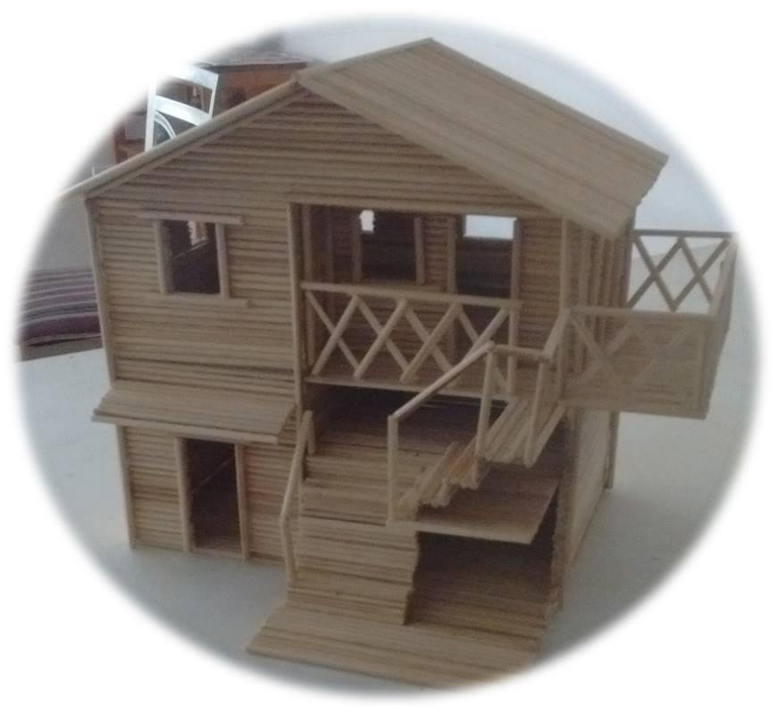 Modelo de Casita hecha en madera