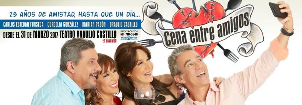 Obra: Cena Entre Amigos en el Teatro Braulio Castillo desde el 31 de marzo de 2017