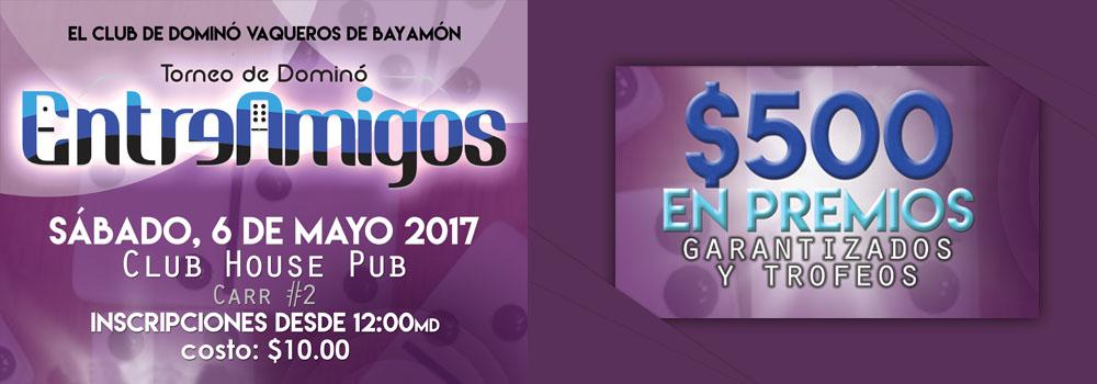Torneo Entre Amigos, Sábado 6 de mayo 2017