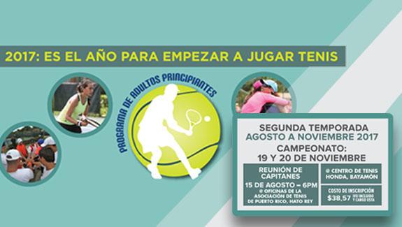 Programa de Tenis Recreacional para Adultos Principiantes