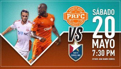 PRFC y North Carolina se Enfrentan Nuevamente en el Loubriel