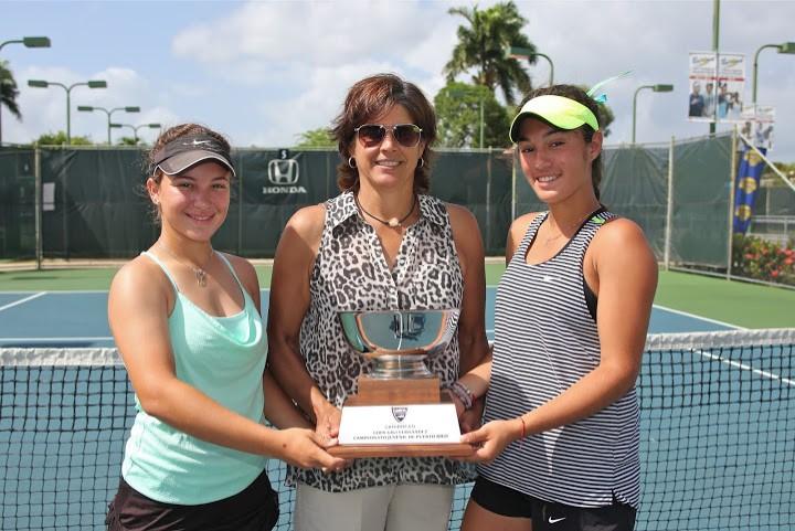 Chantal Martinez Blanco, Gigi Fernandez y Paola Bou