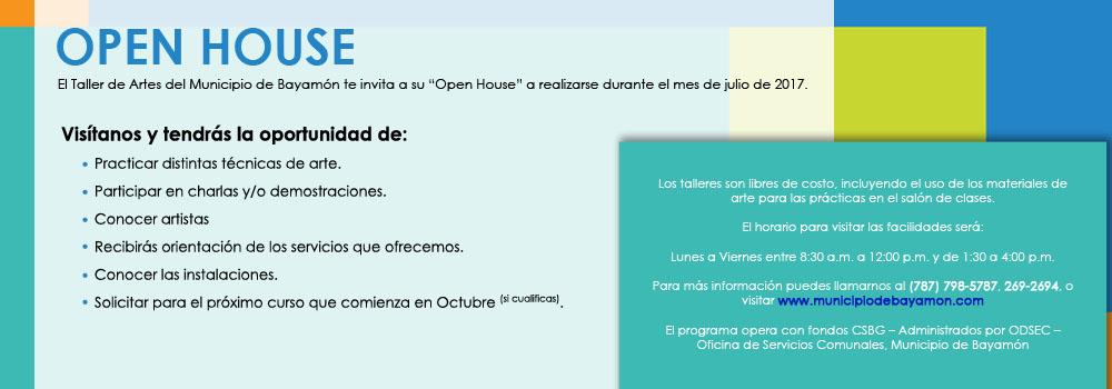 Open House Mes de Julio