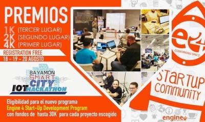 Bayamón Smart City Hackathon el 18, 19 y 20 de agosto de 2017 en Engine-4