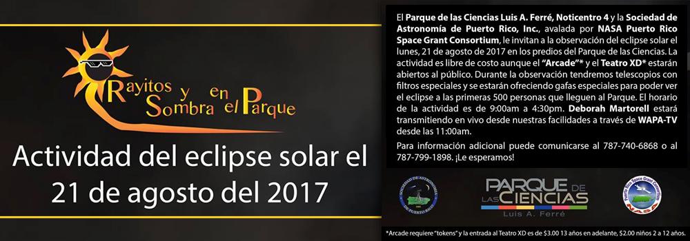 Actividad de Eclipse Solar en el Parque de las Ciencias el 21 de agosto de 2017