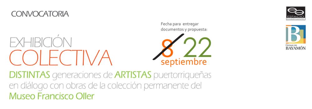 Convocatoria Exhibición Colectiva en Espacio Emergente- Fecha para Entregar 22 de septiembre de 2017