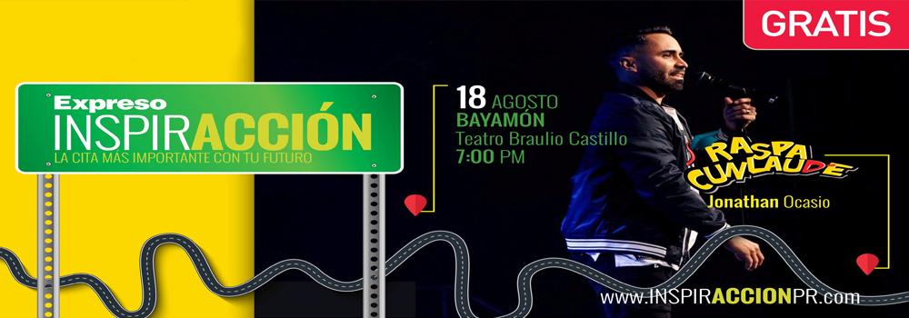 Expreso InspirAcción el 18 de agosto de 2017 a las 7:00 p.m. en el Teatro Braulio Castillo