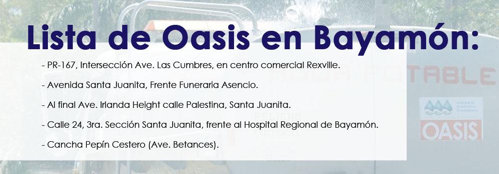 Lista de Oasis en Bayamón