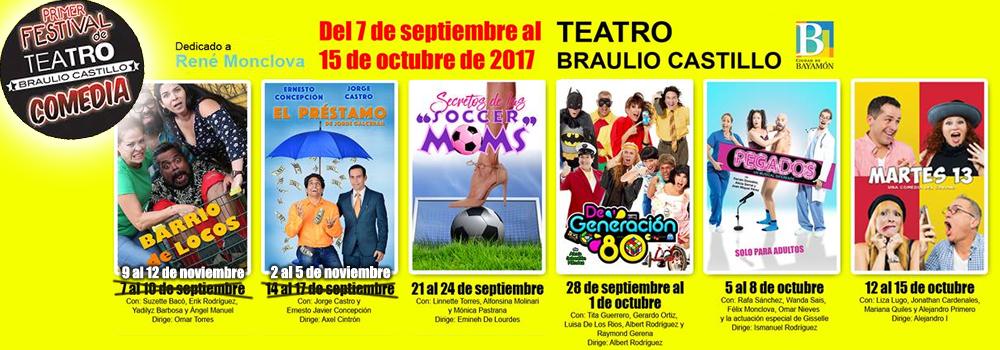 Primer Festival de Teatro en el Teatro Braulio Castillo